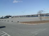 The parking area for the Niantic River boat launch.