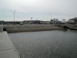 The ramp of the Niantic River boat launch.