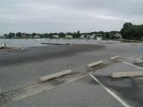 The turning area of the Niantic River boat launch.