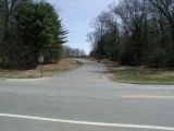 The access road to the Pachaug Pond boat launch.