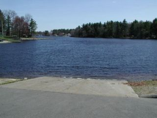 A view from the Pachaug Pond boat launch.