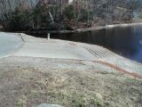 The ramp of the Pachaug Pond boat launch.