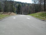 The access road to the Lake Zoar boat launch.