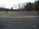 The parking area for the Lake Zoar boat launch.