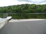 The ramp of the Lake Zoar boat launch.