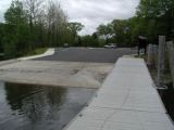 The turning area of the Lake Zoar boat launch.