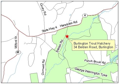 Map of Burlington Trout Hatchery