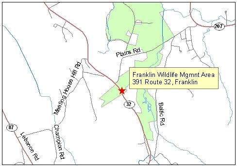 Map of Franklin Wildlife Management Area
