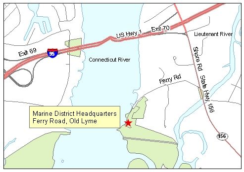 Map of DEP Marine Headquarters