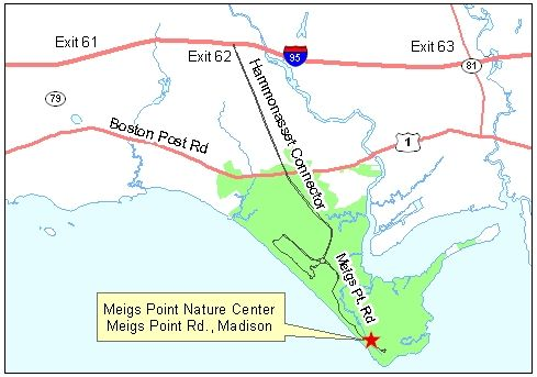Map of Meigs Point Nature Center