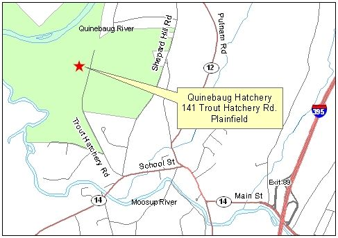 Map of Quinebaug Hatchery Ponds