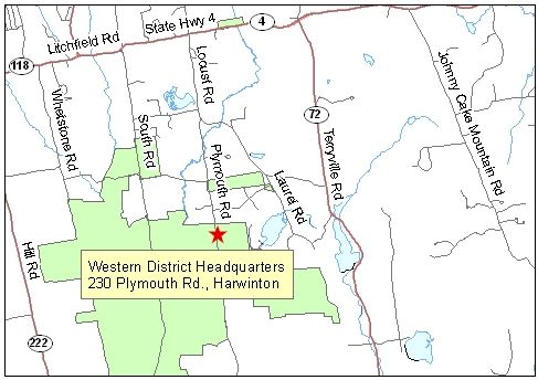 Map of Western District Headquarters
