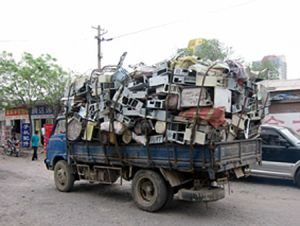 Truckfull of e-waste