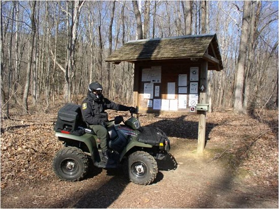 EnCon Officer patrolling on ATV