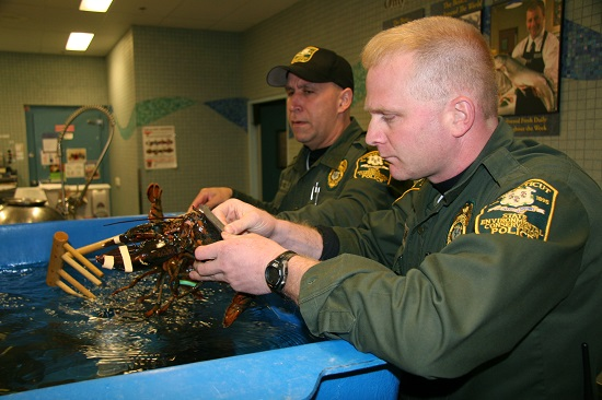 EnCon Police Officers with lobster
