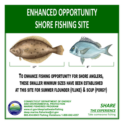 Enhanced Opportunity Shore Fishing Access Site Sign