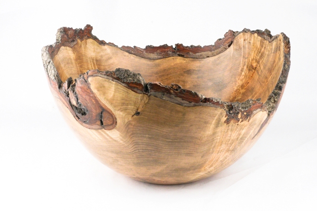 Bowl made from burl wood of an urban maple tree in New Haven, CT