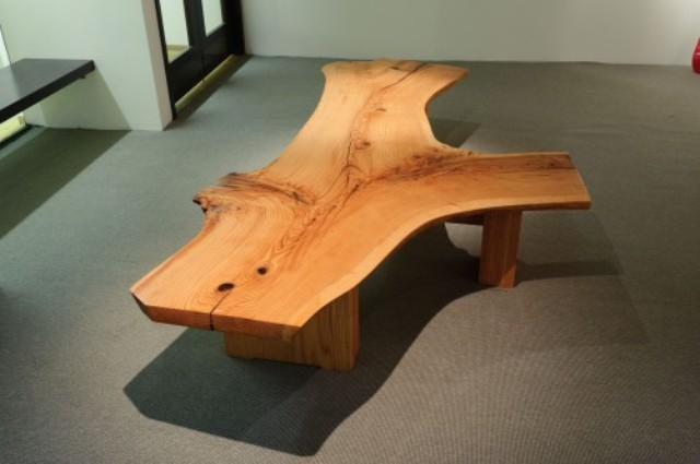 Red oak bench made with urban wood from New Haven, CT.