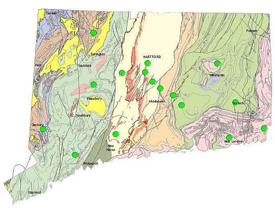 bedrock geologic map of connecticut Bedrock Core Repository bedrock geologic map of connecticut