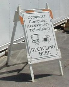 E-waste Collection Sign