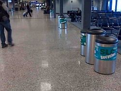 Salt Lake City Airport Recycling Bins.  Photo courtesy of Plan-it Friendly, LLC