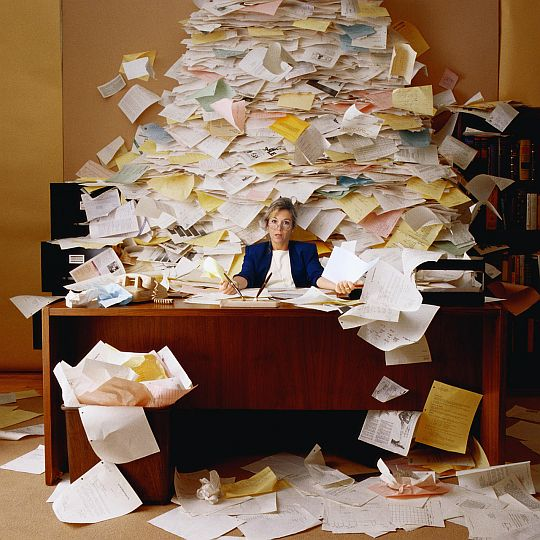Overwhelmed with paper