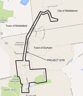 Durham Water Main Extension map