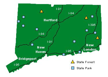 Connecticut Campground Locations