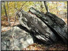Photograph of rocks at Day Pond State Park