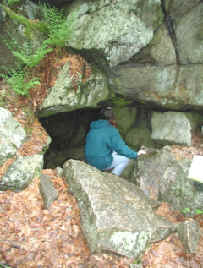 Photograph of Rowe Schist rock shelter referred to as Philip's Cave