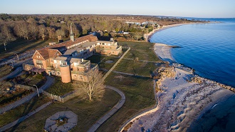 Aerial photo of Seaside State Park