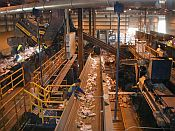 Inside a Recycling Facility