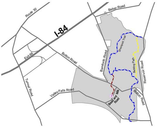 Map of Belding WMA location.