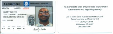 Ammuntion Certificate Sample