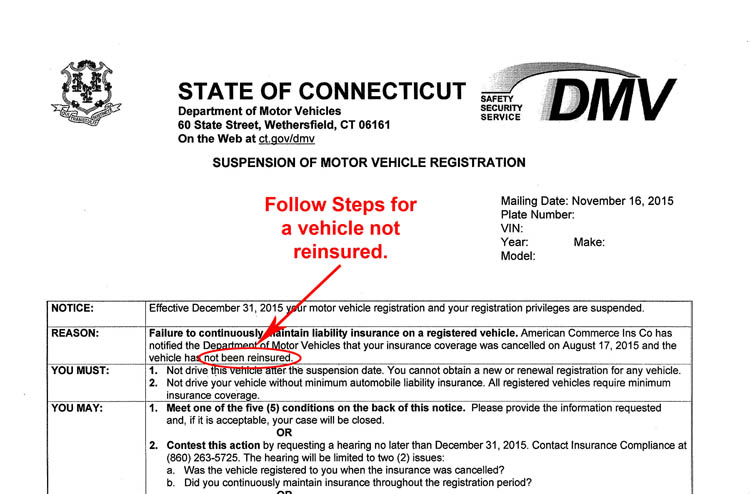 Vehicle Service Department Letter >> Pay Fine For Insurance Registration Not Currently Suspended