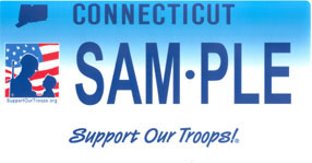 Support Our Troops plate