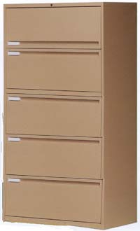 5-Drawer Lateral File Cabinets