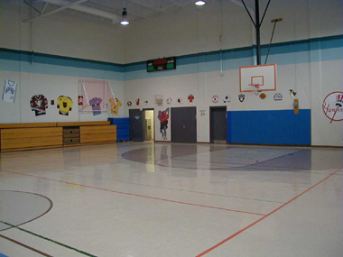 Gymnasiums providing indoor recreation are available at all facilities.