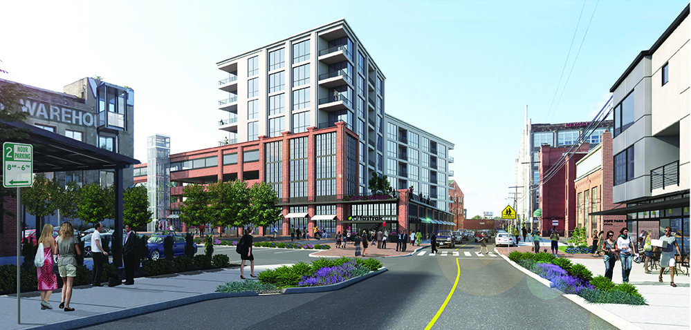 rendering of development potential along Bartholomew Avenue in Hartford, Connecticut