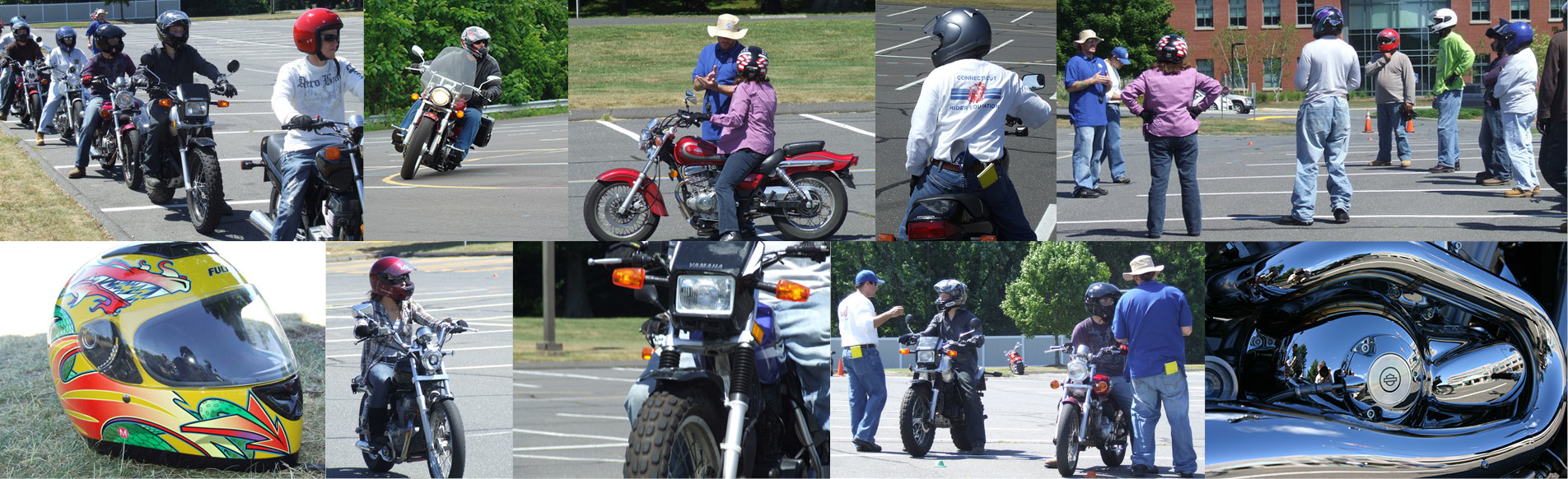 Collage of Photographs-Motorcycle Training