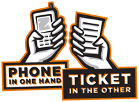 Image-Phone in One Hand, Ticket in the Other