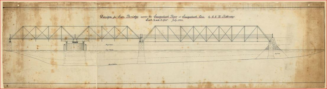 Elevation plan of original bridge