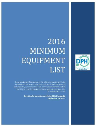 2016 EMS EQUIPMENT LIST