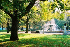 park with fountain