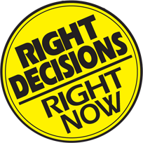 Right Decision Right Now logo