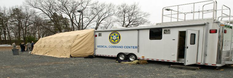 Mobile Field Hospital with Medical Command Trailer