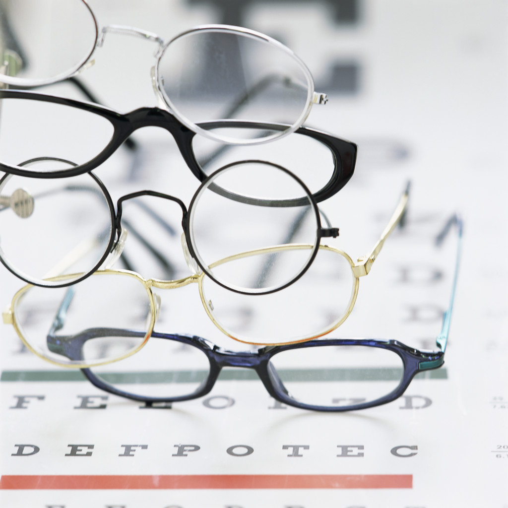Eyeglasses and eyechart