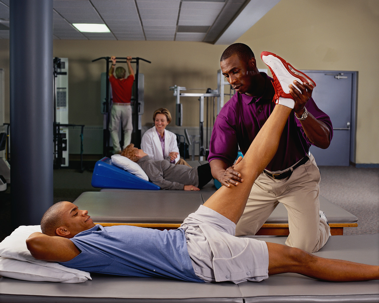 Patient receiving physical therapy
