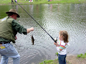 Image of Girl Fishing