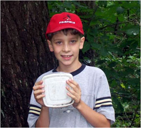 Image of Boy Letterboxing